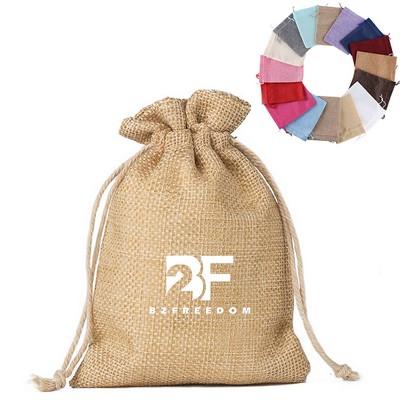 "3/"" x 5/"" Burlap Party Favor Bags with Jute Drawstrings 12 Pack 9 Colors"